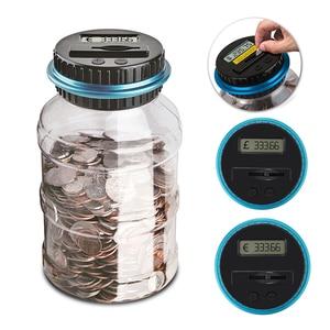 C-1.8L Копилка счетчик монет электронный цифровой ЖК-подсчет монет для экономии денег коробка банка коробка для хранения монет для USD Евро GBP д...