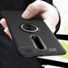 for Oneplus 8 Pro 8 7T 7 Pro 6 6T Case Magnetic Car Holder Shockproof Case Finger Ring Matte Soft Cover Coque Funda