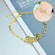 Tiny Trendy Zirkonia Kristall Heißer Schmetterling Armband Gold Farbe Kleine Insekten Einstellbare Armband für Frauen Schmuck 2020