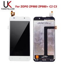 LCD Display For ZOPO ZP980 ZP980+ C2 C3 LCD Display Digitizer Screen With Touch Complete Assembly