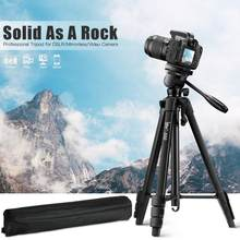 Camera Tripod 60-Inch/152cm for DSLR/SLR, Aluminium Fluid Head Professional Photography Phone Tripod with Phone Holder & Remote