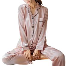 Women Long Sleeve Pajamas Set Home Wear Long-sleeve Tops+Long Pants Homewear Gifts