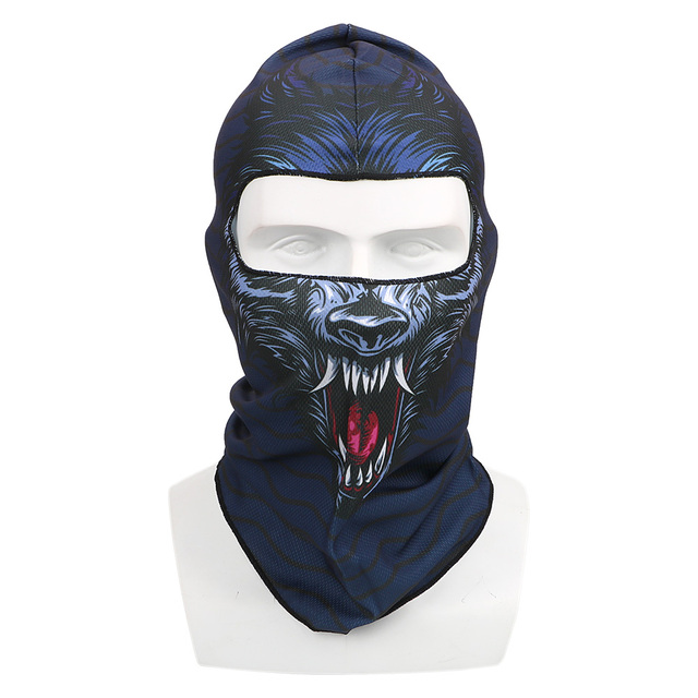 Full Face and Neck Coverage Windproof Sun-protection Dust Protection Motocycle Mask Unisex Balaclava 3D Animal Summer Breathable 5