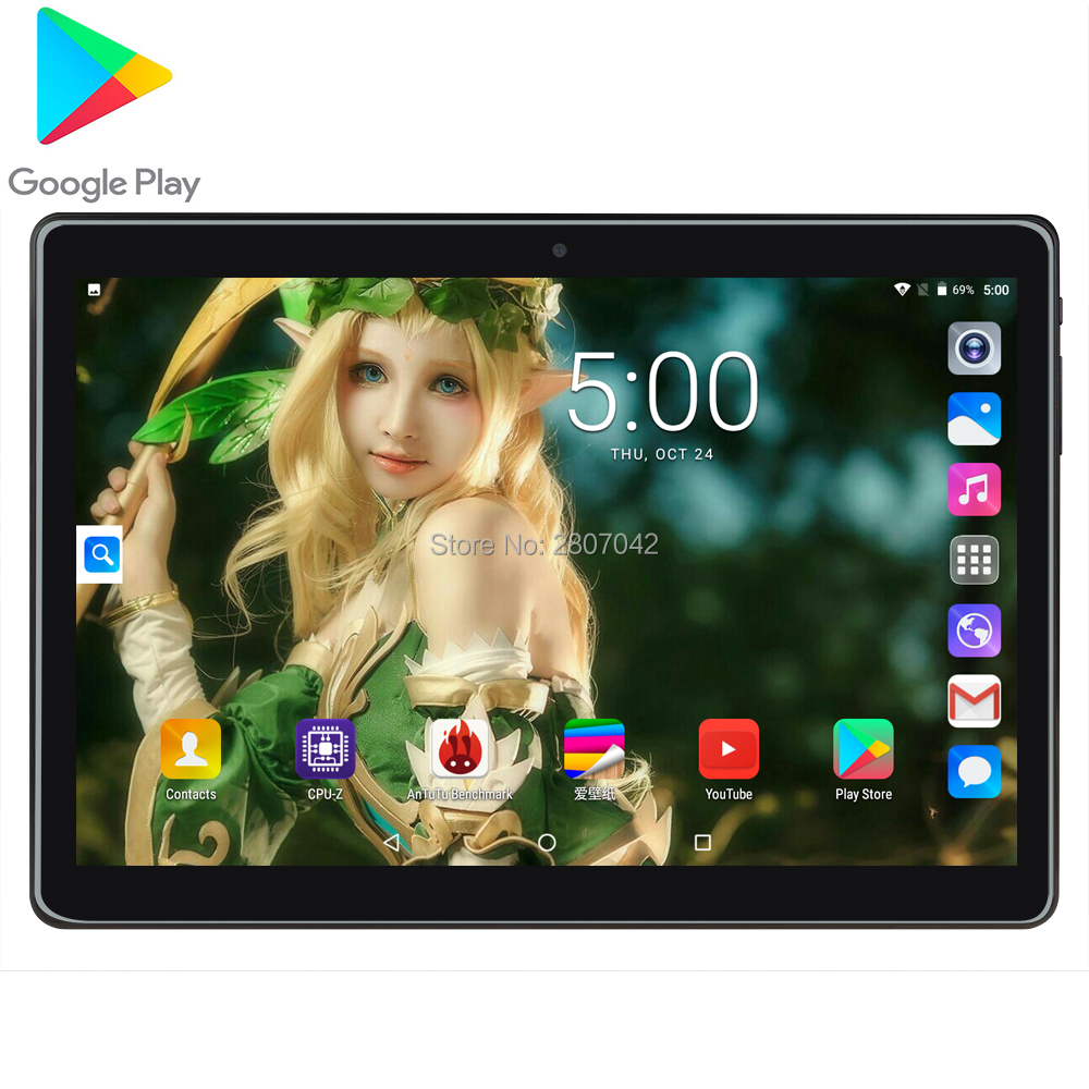 2020 Newest 10inch Tablets PC 3G Wifi 2.5D Tempered Glass 3000mAh Android 9.0 OS GPS 2GB RAM 32GB ROM IPS Quad Core Tablet 10.1