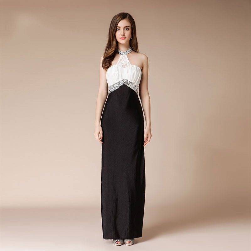 Formal   Dress   Women Elegant White   Evening     Dresses   Long Beaded Sexy Host   Dress   Black Mother Of The Bride   Dresses   For Wedding Party