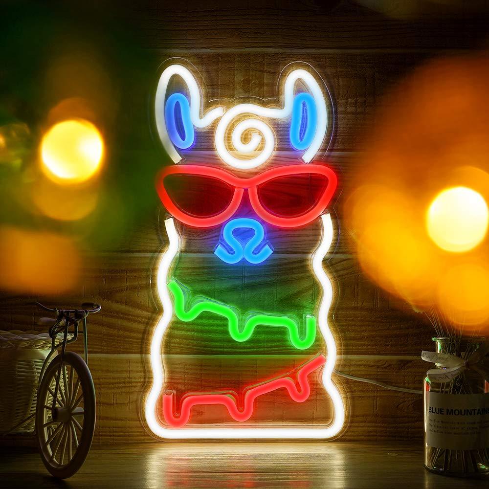5 tipo bar luz neon partido pendurado 02