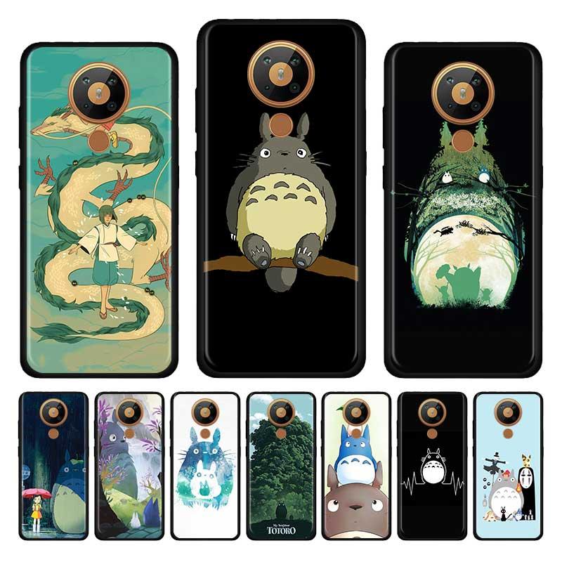 Anime Totoro Ghibli espíritu negro de silicona suave funda de teléfono para Nokia 2,2, 2,3, 3,2, 4,2, 6,2, 7,2, 1,3, 5,3, 8,3, 5G caso Shell Versión Global Lenovo S5 Pro Smartphone 6GB 128GB Snapdragon 636 Octa Core 20MP Quad cámaras 3500 mAh 6,2 pulgadas 4G LTE teléfonos
