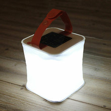 3.7V 1W Solar Power Tent Light Folding Lantern Rechargeable Li-battery LED Lamp for Travel Outdoor Camping Fishing(China)