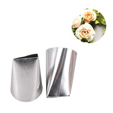 #128 Stainless Steel Besar Kelopak Bunga Mawar DIY Besar Icing Piping Tips Cupcake Kue Piping Nozzle Kue Dekorasi alat(China)
