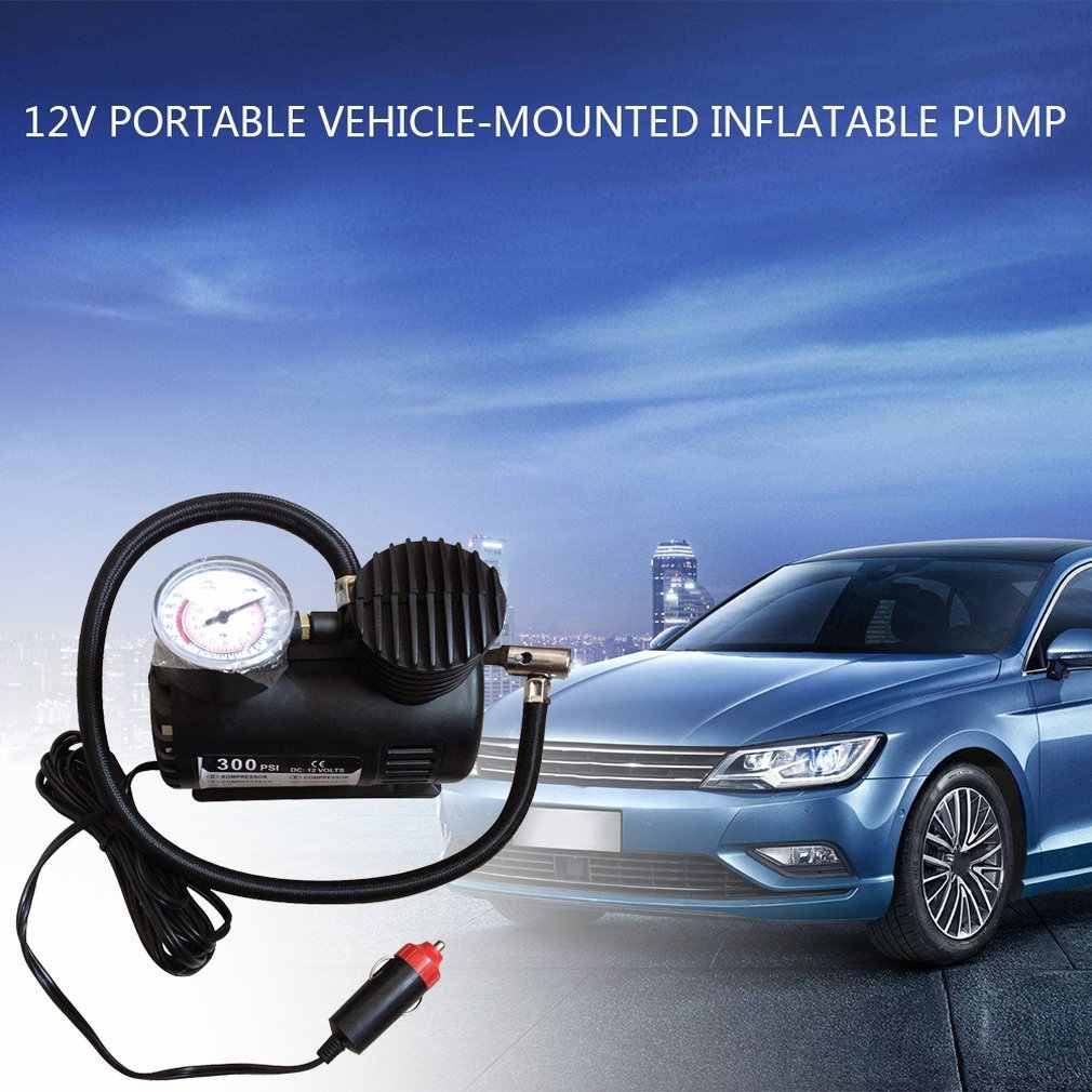 12V المحمولة سيارة منفاخ كهربائي مضخة ضاغط الهواء 100PSI الكهربائية الاطارات نافخة الإطارات مضخة ل لل دراجات النارية