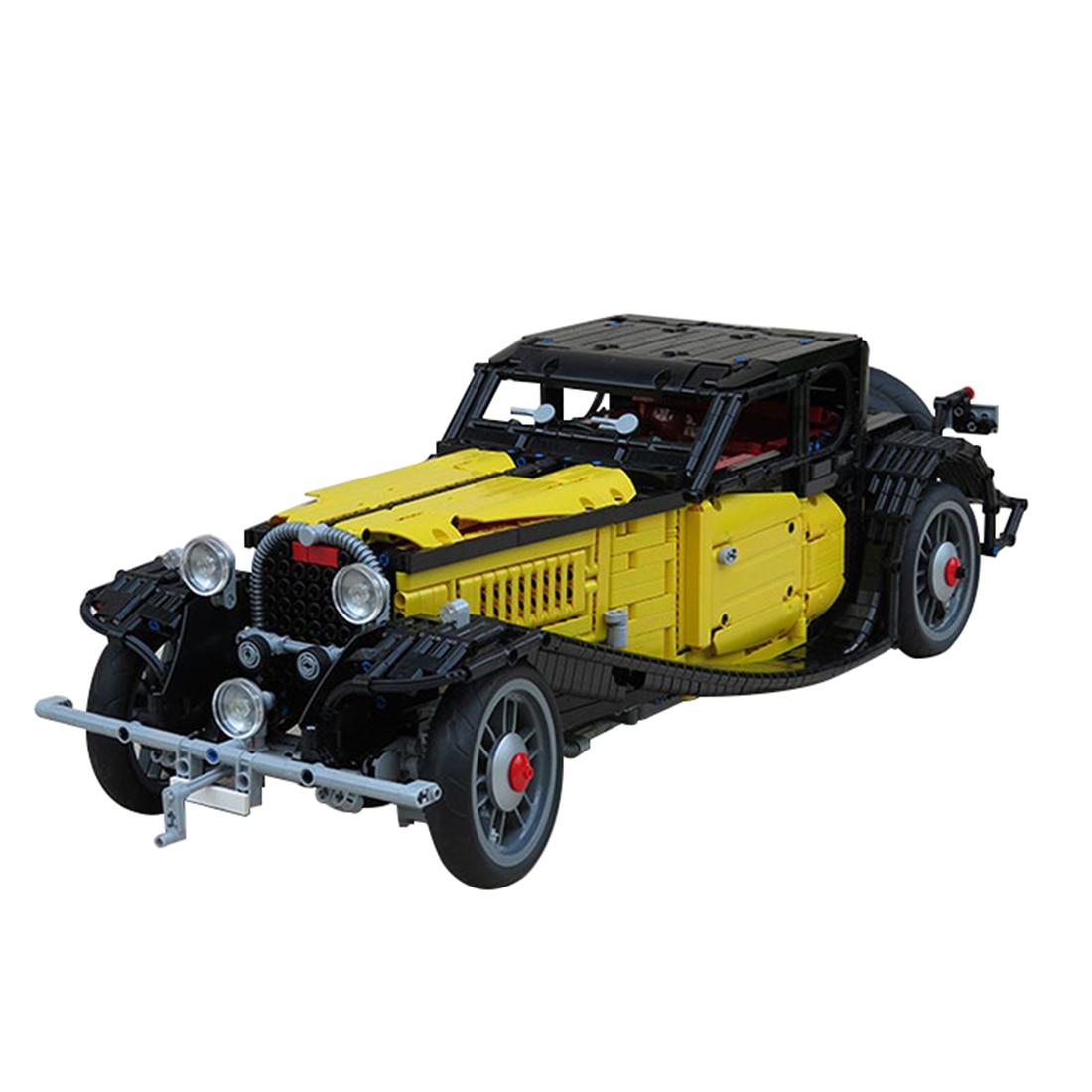 1:8 3428Pcs Moc Small Particle Classic Car Blocks Retro Building Blocks Car