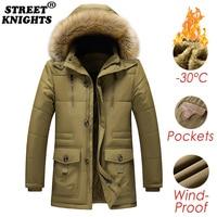 Мужская зимняя куртка парка с капюшоном на меху современный материал утеплитель 1