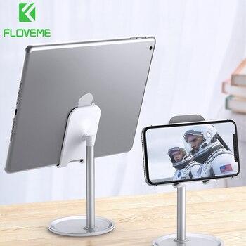 FLOVEME Universal Tablet Phone Holder Desk For iPhone Desktop Tablet Stand For Cell Phone Table Holder Mobile Phone Stand Mount