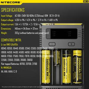 Image 4 - 100% Original Nitecore New I4 Digicharger Battery Charger Nitecore Charger  for 26650 18650 18350 16340 14500 10440