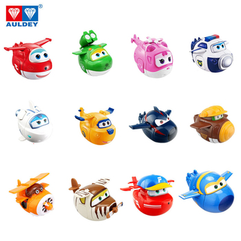 AULDEY Super Wings set twisted toy blind box toy deformation robot Ledi and Duoduohe bag police give children birthday gifts image