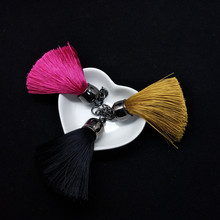 3 Colors Male&Female Silk Tassel Keychain Bag Car Key Decoration Jewelry Alloy Quality Parts