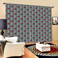 grey curtains red animal curtains 3D Blackout Curtains For Living room Bedding room Drapes Cotinas blackout curtains