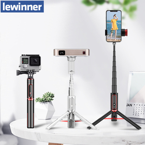 Lewinner LW-202pro Sport All In One Portable bluetooth Tripod Selfie Stick Monopod for Gopro 7 6 5 Sports Action 1/4 Screw View