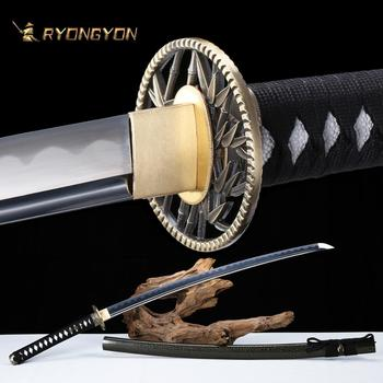 RYONGYON Handmade Katana Real Sword Sharp Genuine Japanese Samurai Sword Japan Ninja Sword 1095 steel Full Tang Blade 506 ryongyon handmade katana real sword sharp genuine japanese samurai sword japan ninja sword 1095 steel full tang blade 502