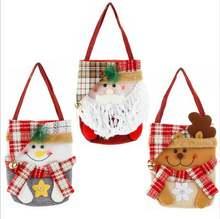 2020 Новый Рождественский подарок сумка для конфет Санта Клаус