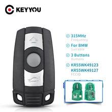 Clé à distance KEYYOU voiture KR55WK49123 pour BMW CAS3 système 315Mhz /433MHz / 868MHz pour 1/3/5/7 série X5 X6 Z4 clé intelligente PCF7945 puce