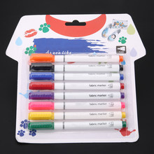 8 Colors Permanent Art Marker Fabric Pens for T-shirt Liner Textile Ink Cloth Paint Color DIY Design for Artist Painting Pen(China)