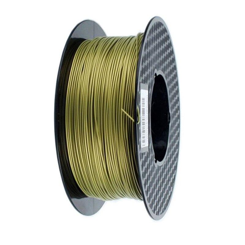 Metal Bronze 3D Printer Filament PLA 1.75mm 0.5Kg Spool Metal Color 500g Bronze Metallic PLA Printing Materials Dropshipping|3D Printing Materials| |  - title=