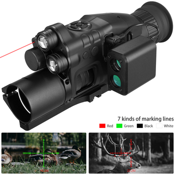 Night Vision Riflescope Monocular w/ Wifi APP 200M Range NV Scope 940nm IR Night Vision Sight Hunting Trail Camera Telescope 5x42 infrared ir night vision digital video camera monocular scope telescope for outdoor hunting camping hiking us plug