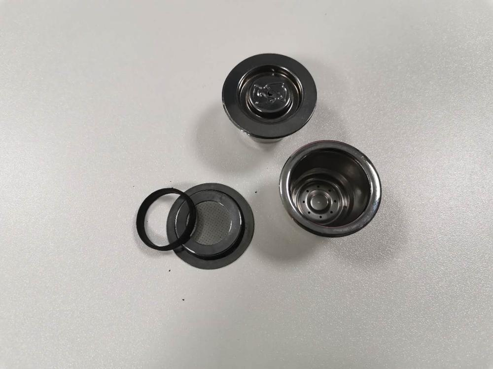 ICafilas ฝาครอบสีดำ Accessorie ซิลิโคน O-แหวนสำหรับรุ่นอัพเกรดสแตนเลส Nespresso เติมแคปซูลถ้วย