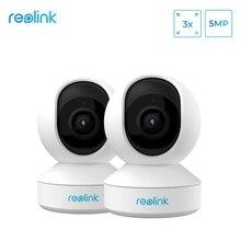 Reolink Monitor de bebé de 5MP, cámara con Zoom óptico 3x, 2,4G, 5G, WiFi, cámara Pan & Tilt, minicámara IP de vigilancia interior para el hogar, Zoom E1