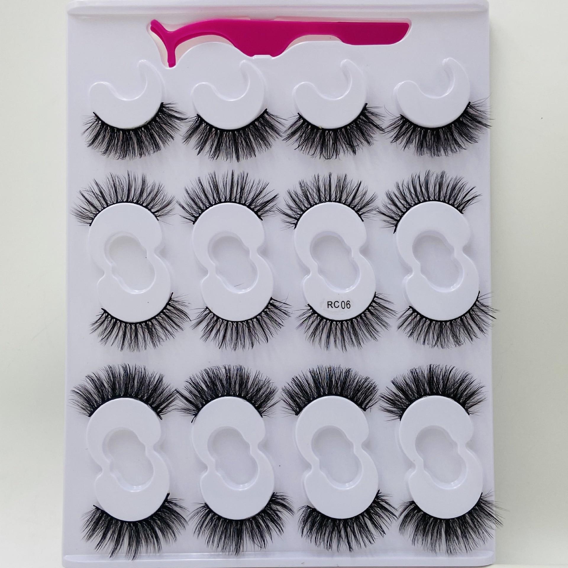 pares conjunto 10 25mm artesanal cilios de olho 05