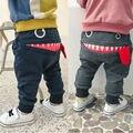 Casual Baby Kinder Hosen Kleinkind Jungen Mädchen Nette Große Mund Monster Hosen Kostüme Lange Cototn Infant Cartoon Panty Kleidung