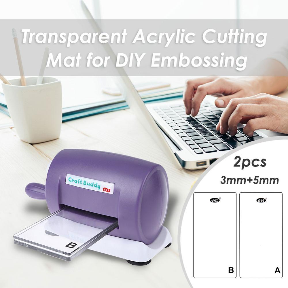 Прозрачный акриловый коврик для резки, сделай сам, тиснение, режущие штампы, машина, платформа, скрапбукинг, штампы, резак, аксессуары