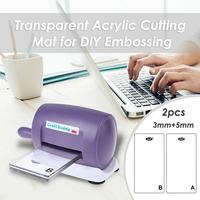 Transparent Clear Acrylic Cutting Mat Plate DIY Embossing Cutting Dies Machine Platform Scrapbooking Dies Cutter Accessorie