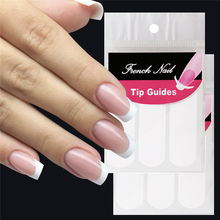 White French Style Smile Nail Stickers Manicure Strip Nail Art Form Finger Tip Guides Water Transfer Sticker DIY Line Tips Decal