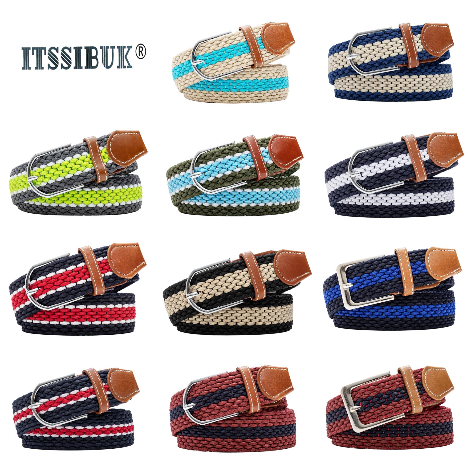 2019 ITSSIBUK Nonporous Elastic Canvas Belt Outdoor Tactical Men&women High Quality Alloy Buckles Belts For Casual Belt105-110cm