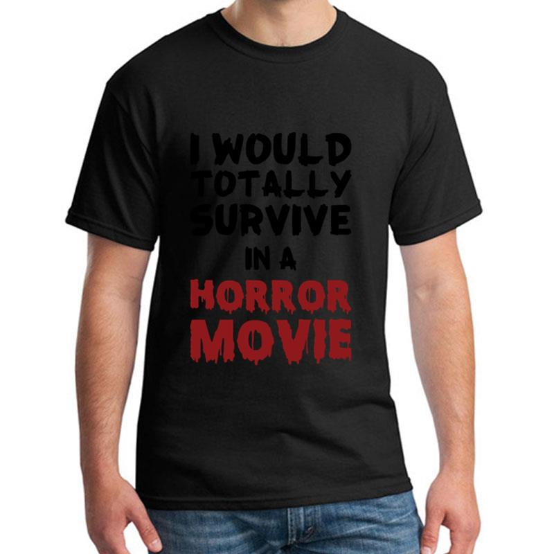 Custom Survive A Horror Movie t-shirt girl boy 100% cotton awesome Letter male female t-shirts Clothes top tee image