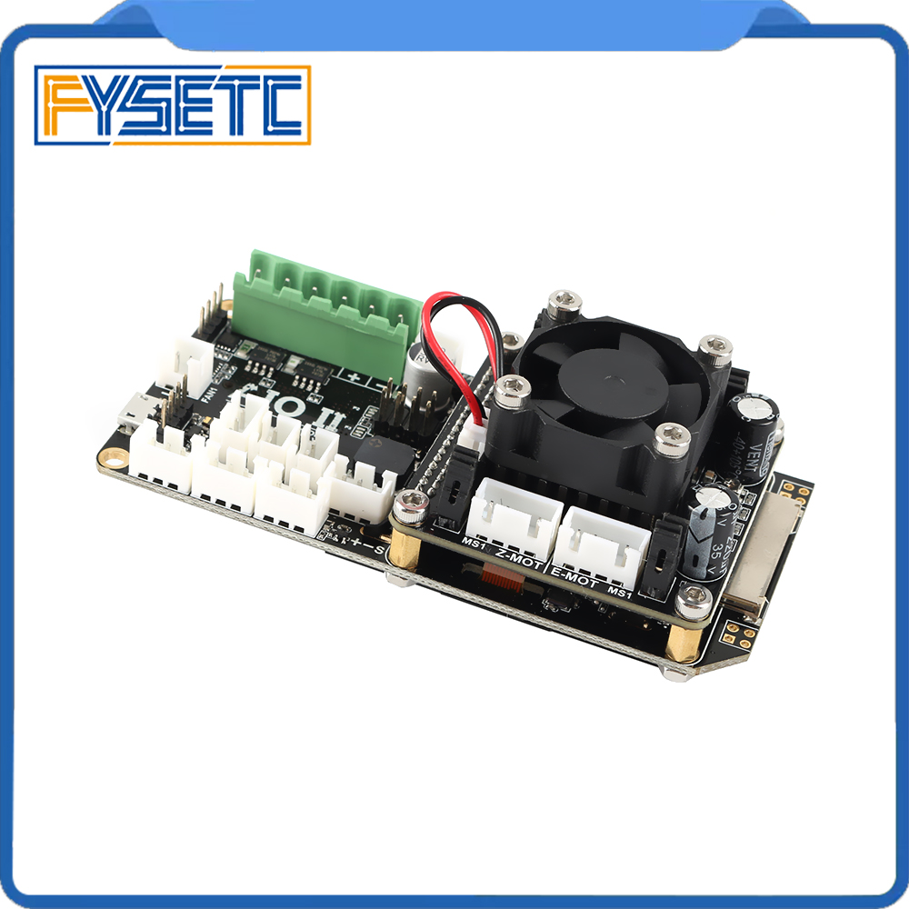 Image 2 - AIO II V3.2 Mainboard All in One II 32 Bit MCU 32bit ST820 Driver 256 Microsteps Controller Board Support Marlin For 3DP/CNC-in 3D Printer Parts & Accessories from Computer & Office