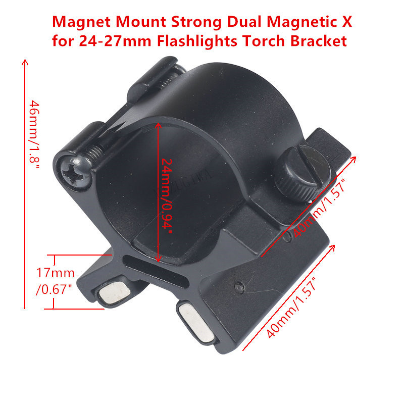 Tactical Magnet Mount Strong Dual Magnetic X For 24mm-27mm Flashlights Torch Bracket Scope Gun Mount Hunting With Original Box