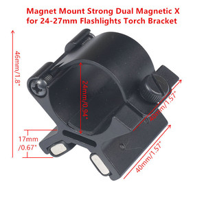 Tactical Magnet Mount Strong Dual Magnetic X for 24mm-27mm Flashlights Torch Bracket Scope Gun Mount Hunting with Original Box(China)