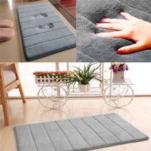 Alfombra antideslizante de baño de lana de Coral alfombra de espuma de memoria alfombra con absorción de agua lavable para cocina en casa felpudo suave 40x60cm