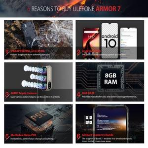 Image 3 - Ulefone Armor 7 – Téléphone portable robuste, smartphone version mondiale, Android 10, 2,4G/5 G, wifi, 8 Go + 128 Go, Helio P90 IP68, appareil photo 48 MP, 4G, LTE
