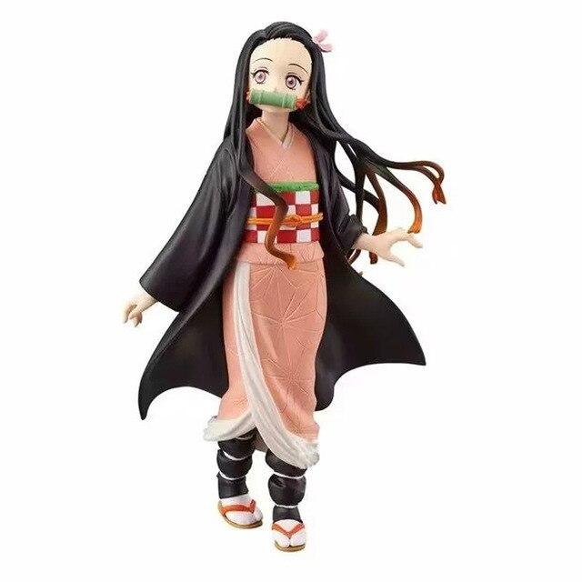 Demon Slayer Tanjirou Nezuko Zenitsu DXF PVC Action Figures Kimetsu no Yaiba Figurine Anime Model Toys 1