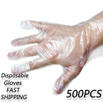500 Pcs/Set Food-Grade Plastic Gloves Disposable Gloves For Restaurant Kitchen BBQ Eco-friendly Food Gloves Cleaning Gloves New