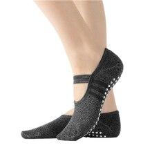 Women's Yoga Socks Non Skid Socks With Grips Breathable Professional Barre Socks Comfortable Cotton Pilates Socks for Women 1pair lot men s cotton non slip yoga socks with floor pilates socks anti skid breathable socks