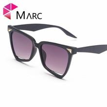 MARC 2019 Ladies Cat Eye Sunglasses Women Vintage Brand Mirror Black Sun Glasses for Female Oval UV400