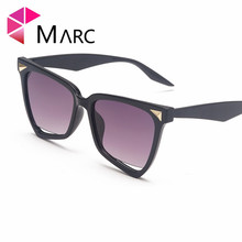 MARC 2019 Ladies Cat Eye Sunglasses Women Vintage Brand Mirror Black Sun Glasses for Women Female Oval Glasses UV400 стоимость