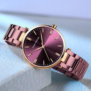 Image 2 - Mini focus 유명 브랜드 쿼츠 시계 reloj mujer 럭셔리 여성 패션 캐주얼 시계 stainles 스틸 레이디 아날로그 시계 방수