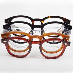 Image 2 - Round Handmade Acetate Frame Women Johnny Depp Glasses Men Brand Designer Computer Goggles Optical Spectacle frame Demi Myopia