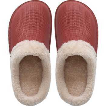 New Fashion 2019 Woman House Slippers EVA Warm Fur Slippers Plush Home Slipper Indoor Floor Shoes for Female Winter Slippers 3